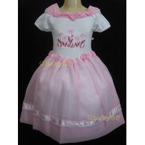 Vestido De Festa Infantil Daminha Casamento Princesa