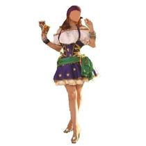 Fantasia Cigana Esmeralda Super Luxo Nac Tam. M ( 38 A 40)
