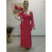 Vestido De Madrinha Em Crepe Georgette Rose M102