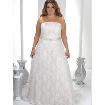 Vestido De Noiva Em Renda Sob Medida Plus Size Tomara Caia