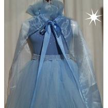Fantasia Infantil Frozen Elsa Com Capa... Luxo!