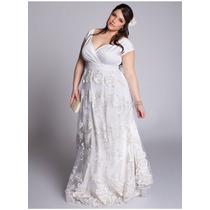 Vestido De Noiva Renda Plus Size Tamanhos Grandes Boho Chic