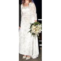 Maravilhoso Vestido De Noiva Importado * Veste De 40/44