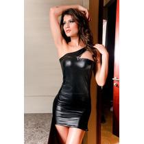 Mini Vestido Sexy Gótico Fantasia Vinil Lycra - Mod. 18
