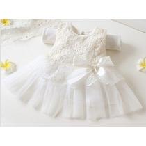 Vestido Infantil Festa, Batizado, Casamento, 6 A 2 Anos.