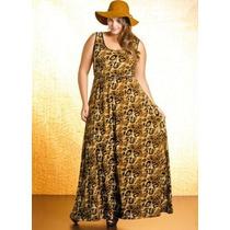 Vestido Longo Xgg/plus Size Liganete, Kit C/5 Para Revenda