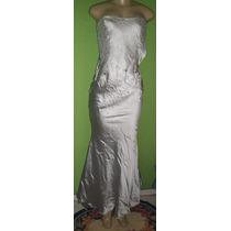 Vestido Sereia T.q.c Seda Cetim Tamanho P Veste 38