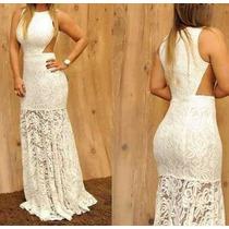 Vestido Longo Renda Festa Vestido Noivado Vestido Formatura