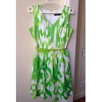 Vestido Ellen Tracy Verde Tam 38 Importado Usa