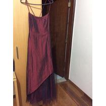 Vestido Fruta-cor Vinho Com Preto. Ajustável Nas Costas!!!