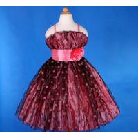 Vestido Infantil/princesa/festa Lindo Em Vermelho Ou Róseo