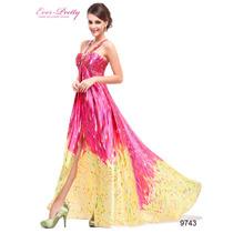 Maravilhoso Vestido Importado Ever Pretty Festa Preto Pink