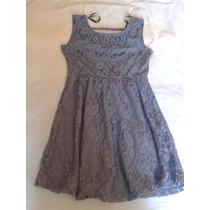 Vestido Renda Azul C&a Tam 40