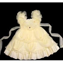 Vestido Infantil Festa/batizado Princesinha Brilho