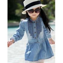 Vestido Infantil Menina Festa Casual Chique Pronta Entrega