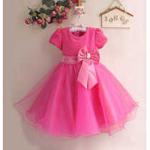 Vestido De Princesa Rosa Pink - Importado - Tam: 3t E 6