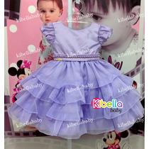 Vestido Infantil Luxo Princesa Sofia Tam: 1 Ao 3