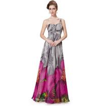 Elegante Vestido Importado Ever Pretty Busto Plissado 8394