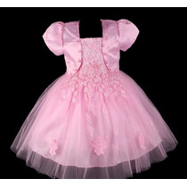Vestido Infantil Festa/ Princesa/dama/florista Flores Rendas