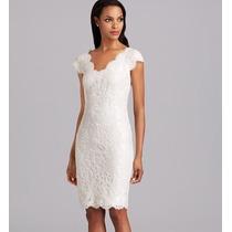 Vestido Importado Gg Elegante Clássico Fino Em Renda Branco