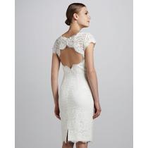 Vestido Pp- Importado Sexy Elegante Clássico Em Renda Branco