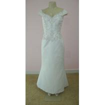 Vestido De Noiva - Cauda Removível - Pronta Entrega- Vn00147