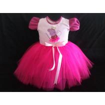 Vestido Infantil Peppa Pig Bailarina Festa Fantasia