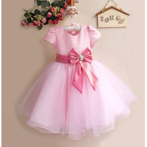 Vestido Infantil Festa Luxo Importado Com Tiara Princesa