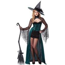 Fantasia Feminina Halloween Bruxa Pronta Entrega