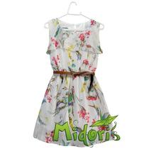 Vestido Curto Florido Em Chiffon - Pronta Entrega