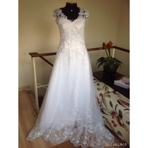 Lindo Vestido De Noiva. Modelo Grace. Tam. M