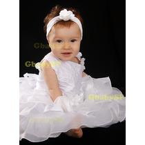 Vestido De Festa Infantil Princesa - Vermelho E Branco Luxo
