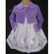 Vestido De Festa Infantil Com Bolero - Lindo E Confortável