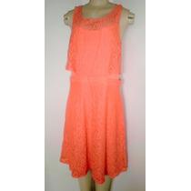 Vestido Renda Laranja (o Preto Básico Deste Verão) - G