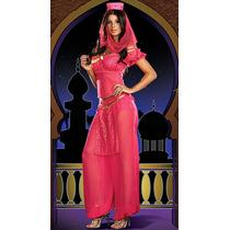 Fantasia Princesa Aladdin Sexy Dança Do Ventre Rosa