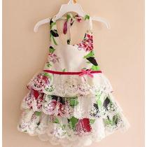 Vestido Infantil Florido Primavera / Verão 2015 Lindissimo