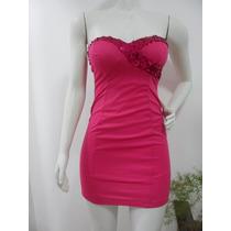 Vestido Tomara Caia Paete Lantejoula Pink Rosa Festa