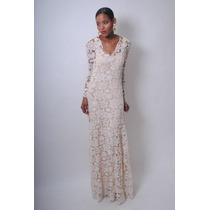 Vestido De Noiva Costas Nua Renda Guipiur - Luxo Sob Medida