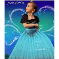 Promoção Vestido Fantasia Frozen Elza. Pronta Entrega