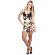 Vestido Com Estampa Floral - Pronta Entrega