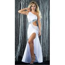 Vestido Branco Longo Com Decote Sensual Lindíssimo Para Tops