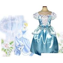 Fantasia-vestido Cinderela - Cinderella -em Estoque-imediato