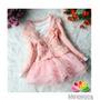 Vestido Cardigan Rosa 4 Anos Menina Mineiroca