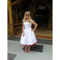 Vestido De Noiva Estilo Rockabilly, Retro, Anos 60