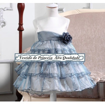 Vestido Princesa Daminha Elsa Frozen - Alta Qualidade