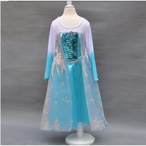 Fantasia Vestido Elsa Frozen (pronta Entrega)