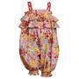 Bonnie Baby Bebe Importado Macacao Outfit Floral Tam 6 Anos
