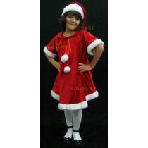 Vestido Fantasia Mamãe Noel Infantil - Ajudante Papai Noel