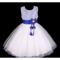 Vestido Infantil Festa/dama/florista/casamento Rendas Tule