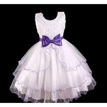 Vestido Infantil Festa/dama/florista/casamento Fitas